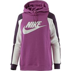 Nike Hoodie Damen bordeaux-white