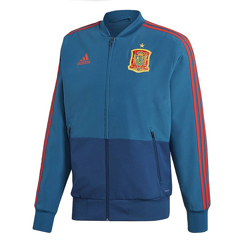 Adidas Spanien Jacke Trainingsjacke Herren Tribe Blue Red im Online ... ce084e264e