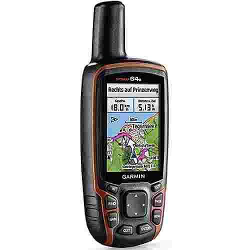 Garmin map64s GPS grau-orange