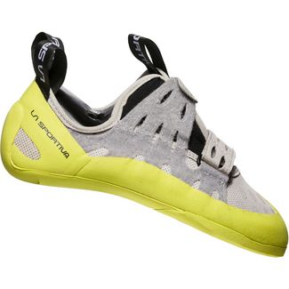 La Sportiva Geckogym Kletterschuhe Damen grey-apple green