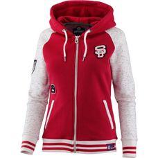 Superdry Sweatjacke Damen Oatmeal/Tailgate Red