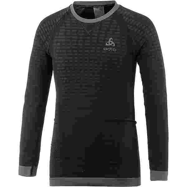 Odlo PERFORMANCE WARM Funktionsshirt Kinder black-odlo graphite grey