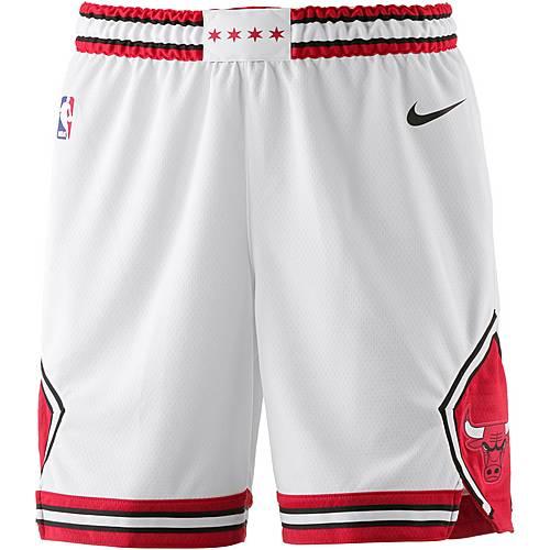 Nike CHICAGO BULLS Shorts Herren WHITE/UNIVERSITY RED/BLACK