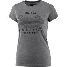 Superdry T-Shirt Damen dark charcoal marl