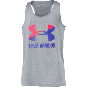 Under Armour Big Logo Slash Tank Tanktop Kinder stell light heather