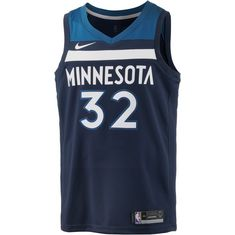 Nike KARL-ANTHONY TOWNS MINNESOTA TIMBERWOLVE Basketball Trikot Herren COLLEGE NAVY
