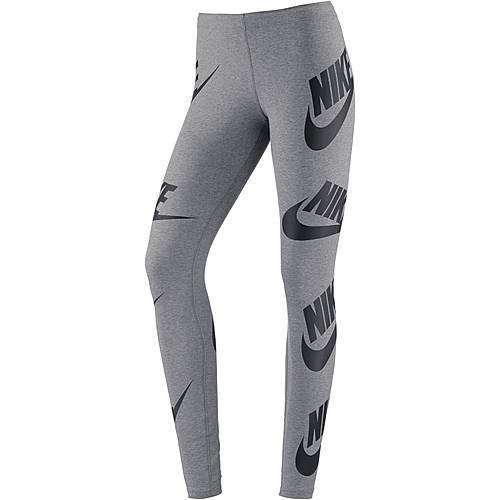 Nike Leggings Damen grey-white