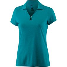 Salomon Ellipse Poloshirt Damen Enamel Blue