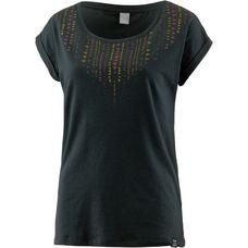 iriedaily Ethnic Tee T-Shirt Damen dark green melange