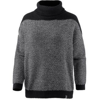iriedaily Block Turtle Knit Rollkragenpullover Damen black white