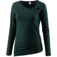 iriedaily Stripy Asym LS Langarmshirt Damen green black