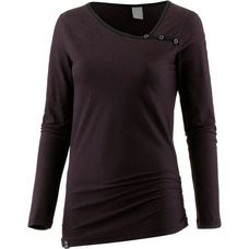 iriedaily Stripy Asym LS Langarmshirt Damen black red