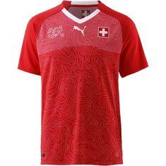 PUMA Schweiz 2018 Heim Fußballtrikot Herren puma red-puma white