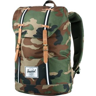 Herschel Rucksack Retreat Daypack Woodland Camo-Black-White