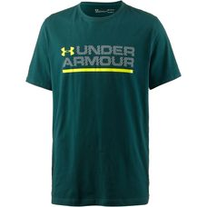 Under Armour Wordmark Lock Up Funktionsshirt Herren arden-green-overcast-gray