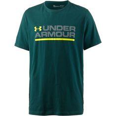 Under Armour Wordmark Lock Up Funktionsshirt Herren arden-green-overcast-gray