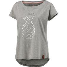 Maui Wowie Oversize Shirt Damen hellgrau