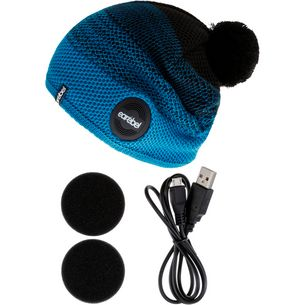 earebel Bluetooth Kopfhörer Caball Merino Beanie schwarz-türkis