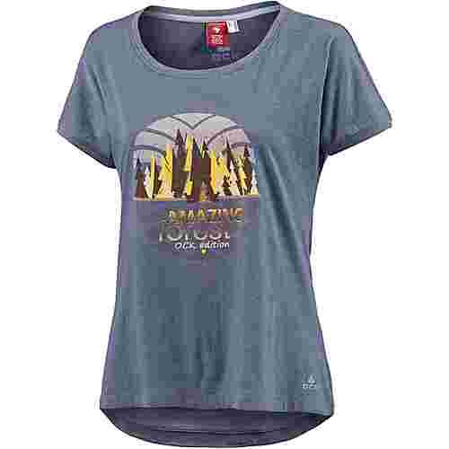 OCK T-Shirt Damen dunkelblau