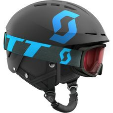 SCOTT Set Apic JR + Jr Witty Skihelm Kinder black-blue