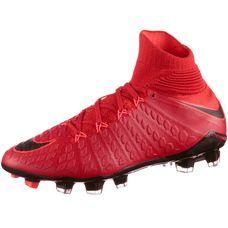 Nike JR HYPERVENOM PHANTOM 3 DF FG Fußballschuhe Kinder university red/black-bright crimson