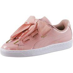 PUMA Basket Heart Patent Sneaker Damen peach beige-puma white