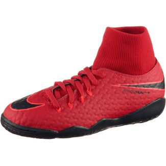 Nike JR HYPERVENOMX PHELON 3 DF IC Fußballschuhe Kinder university red/black-bright crimson