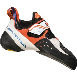 La Sportiva Solution Kletterschuhe Damen white-lily orange