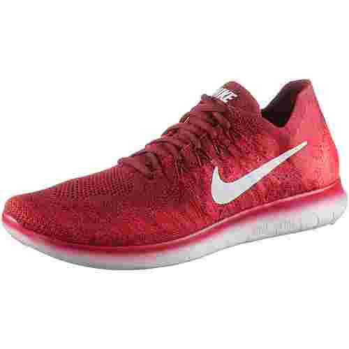 Nike Free RN Flyknit 2 Laufschuhe Herren team-red-pure-platinum-univers
