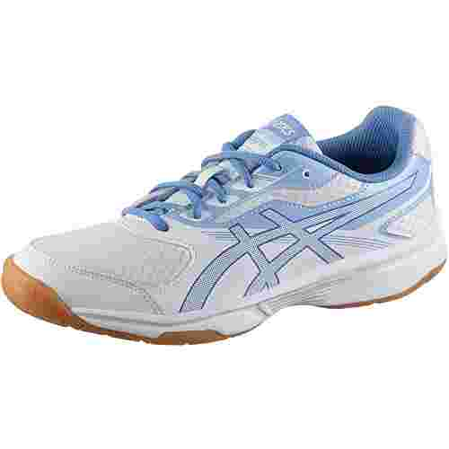 ASICS UPCOURT 2 Hallenschuhe Damen white-regatta blue-airly blue