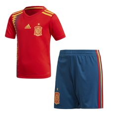 adidas Spanien Heimausrüstung Fußballtrikot Kinder Red/Bold Gold