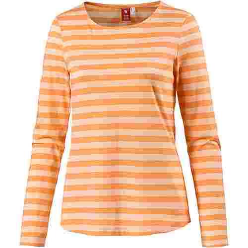 OCK Printlangarmshirt Damen orange