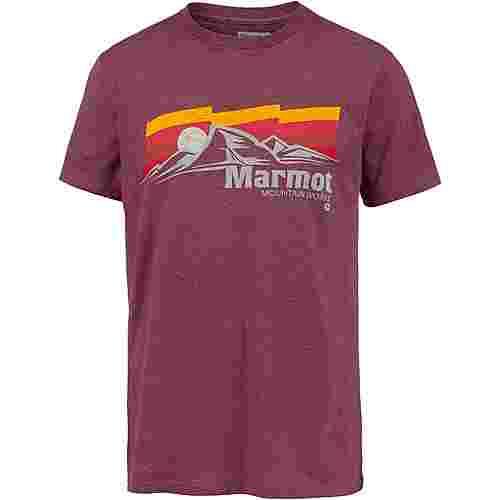 Marmot Sunsetter Funktionsshirt Herren burgundy heather