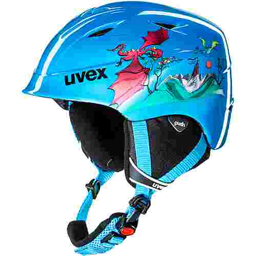 Uvex airwing 2 Skihelm Kinder blue dragon