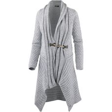 Mogul Strickjacke Damen grey melange