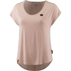 Naketano FALSCHER SMILEY T-Shirt Damen pastel-pink-melange