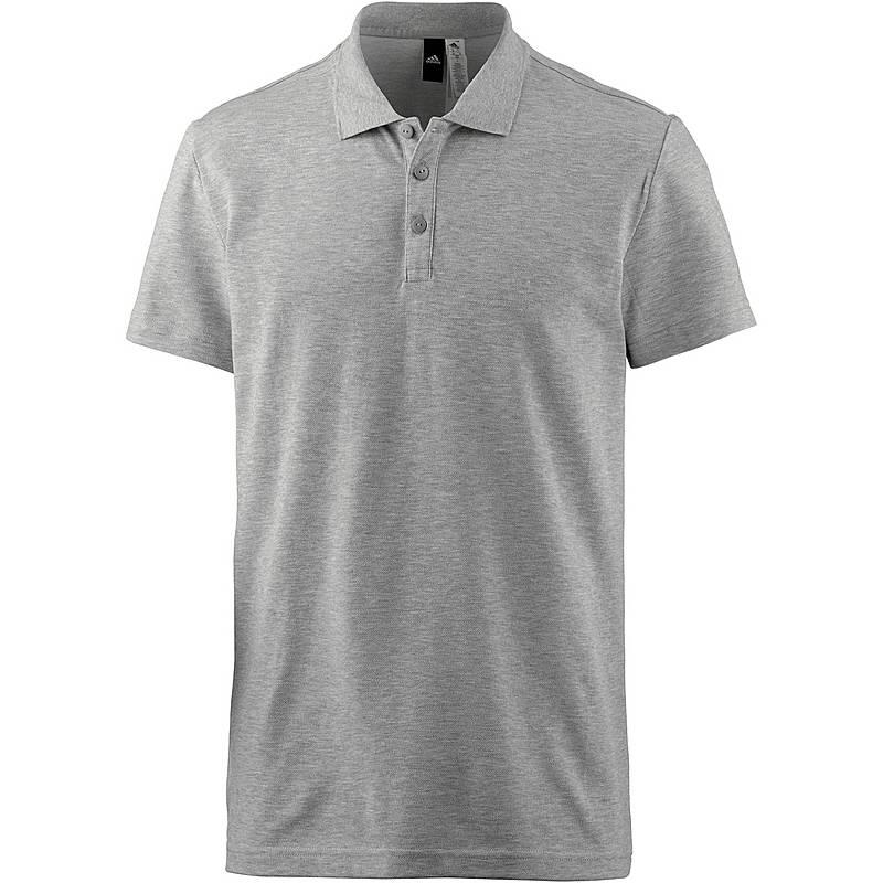 ee7b11d6890732 Adidas Essential Base Poloshirt Herren medium-grey-heather im Online ...