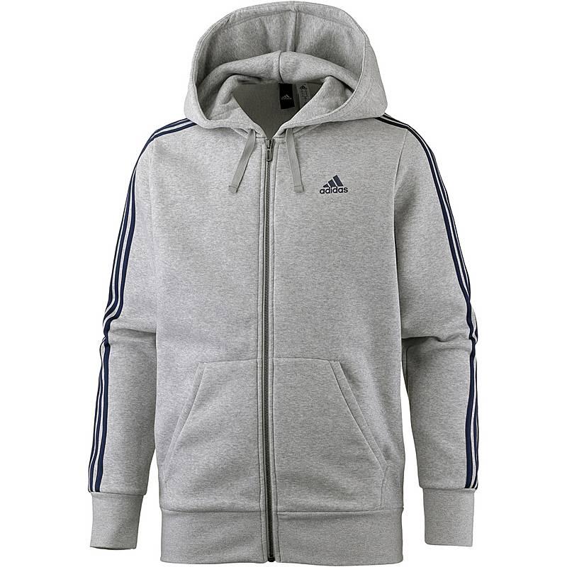 Adidas Essential 3S Kapuzenjacke Herren medium-grey im Online Shop ... 0d510d02e0