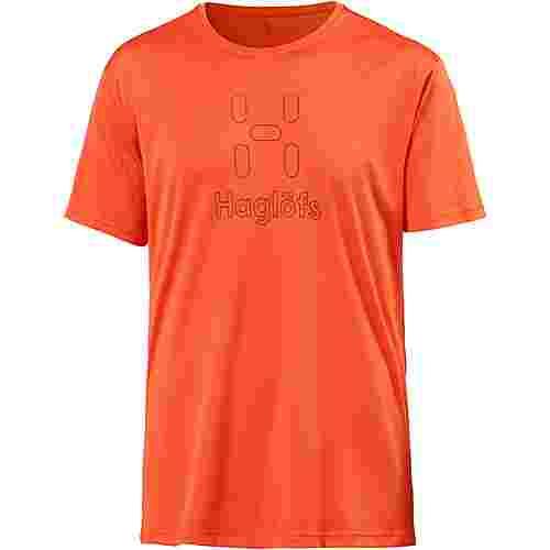 Haglöfs Glee Printshirt Herren cayenne-tarn blue