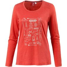 OCK Printlangarmshirt Damen rot