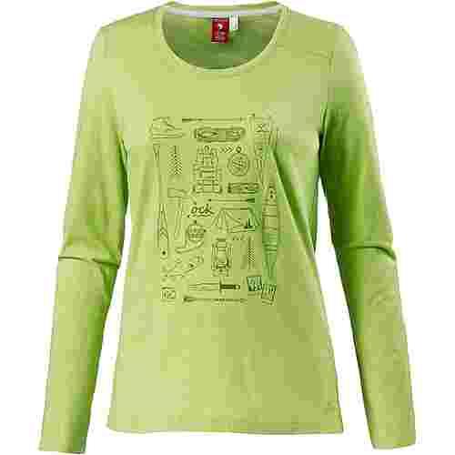 OCK Printlangarmshirt Damen grün
