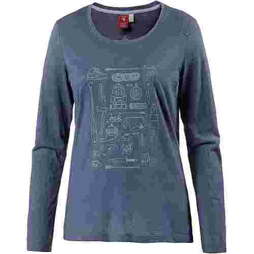 OCK Printlangarmshirt Damen blau