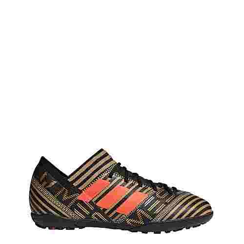 adidas Nemeziz Messi Tango 17.3 TF Fußballschuhe Kinder Core Black/Solar Red/Tactile Gold Met.