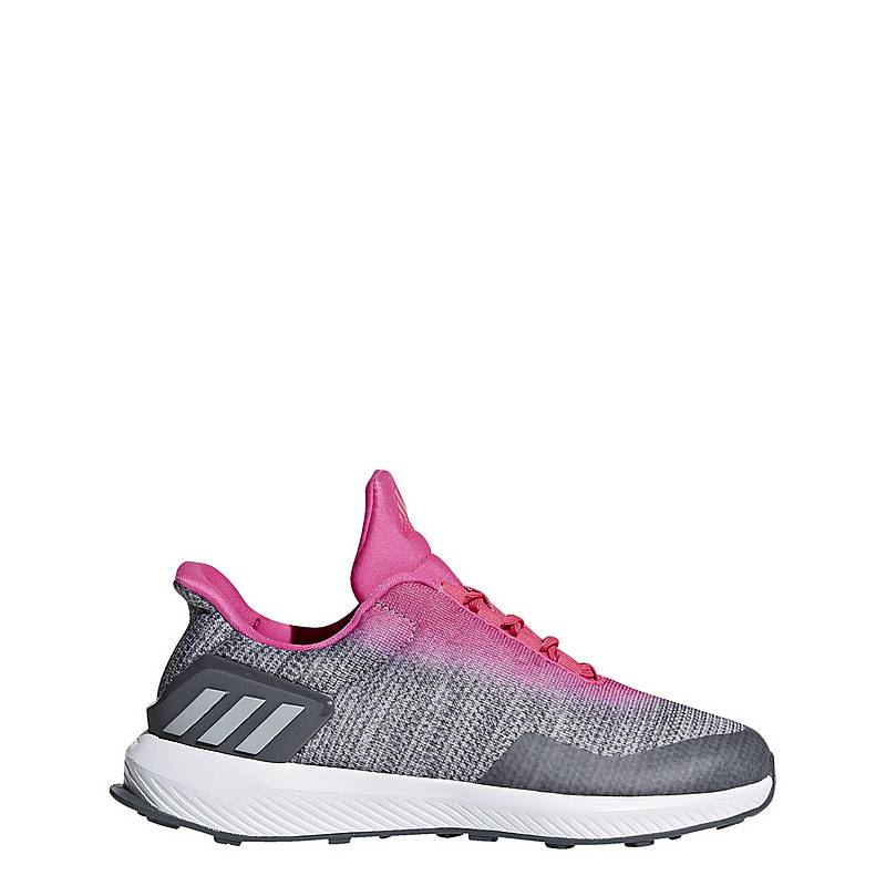 finest selection 3cd9d 484fa adidasRapidaRun Uncaged LaufschuheKinder Grey Three Grey Two Shock Pink
