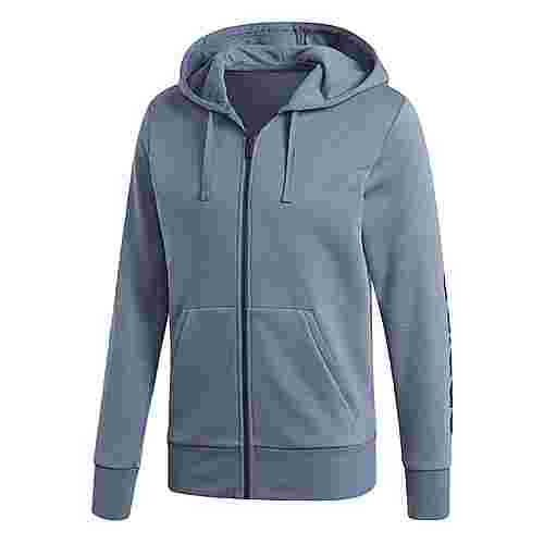 adidas Essentials Linear Hoodie Herren Raw Steel/Collegiate Navy