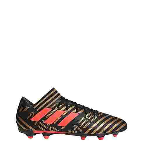 adidas Nemeziz Messi 17.3 FG Fußballschuhe Herren Core Black/Solar Red/Tactile Gold Met.