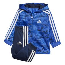 adidas Shiny Jogginganzug Trainingsanzug Kinder Hi-Res Blue/Collegiate Navy/Collegiate Royal/White