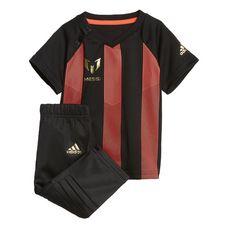 adidas Mini Me Messi Set Trainingsanzug Kinder Black/Solar Red/Gold Metallic