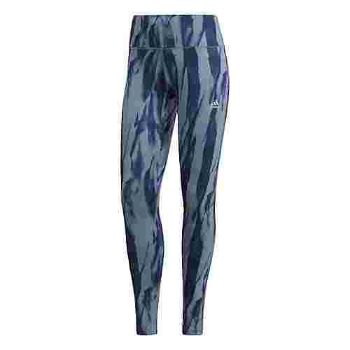 adidas Designed 2 Move Tights Damen Blue/Raw Grey/Print