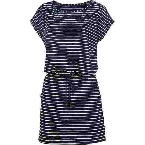 Jack Wolfskin Travel Jerseykleid Damen midnightblue stripes